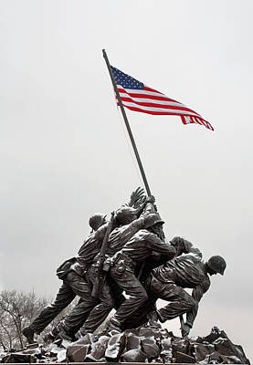 Patriotism Photograph - Color On A Grey Day by JC Findley