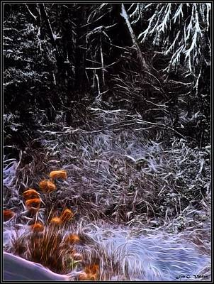 Painting - Color On A Snowy Day by Jon Volden