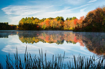 Color On Grist Millpond Art Print