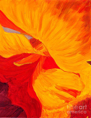 Art Print featuring the painting Color Orange by Mukta Gupta