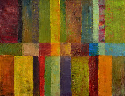 Abstract Pattern Painting - Color Panel Abstract Ll by Michelle Calkins