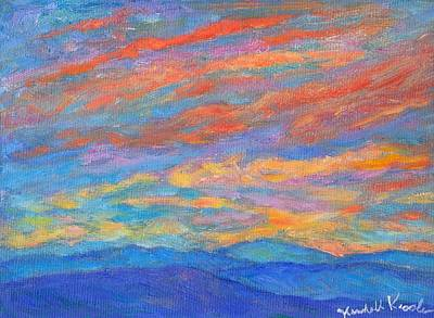 Painting - Color Ripples Over The Blue Ridge by Kendall Kessler