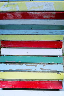 Photograph - Color Slats by David Flitman
