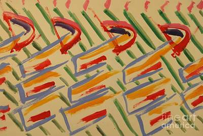 Abstract Shapes Drawing - Color Slides 2 by Andy Gordon