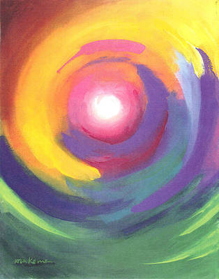 Painting - Color Spiral by Carrie MaKenna