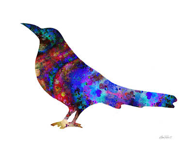 Digital Art - Color Splash Bird  by Ann Powell
