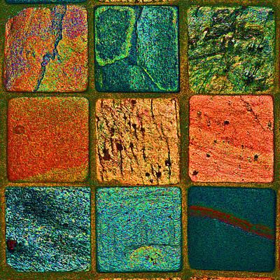 Photograph - Color Squares-square  by Karen Adams