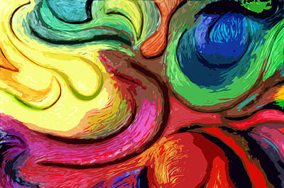 Separation Digital Art - Color Swirl by Ryan Burton