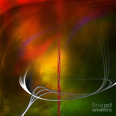 Digital Art - Color Symphony With Red Flow 1 by Johnny Hildingsson