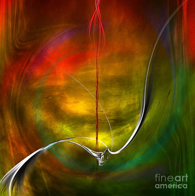 Digital Art - Color Symphony With Red Flow 4 by Johnny Hildingsson
