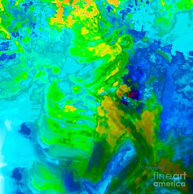 Stellar Interstellar Royalty Free Images - Color Wash Abstract Cyan Royalty-Free Image by Regina Geoghan