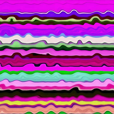 Digital Art - Color Waves No. 3 by Michelle Calkins