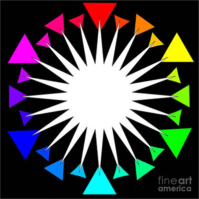 Color Wheel Burst Art Print