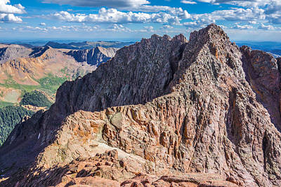 Needle Photograph - Colorado 14er Mt. Eolus And The Sidewalk In The Sky by Aaron Spong