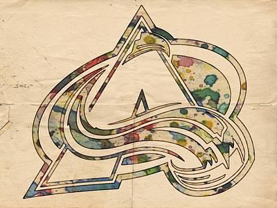 Hockey Painting - Colorado Avalanche Poster Art by Florian Rodarte