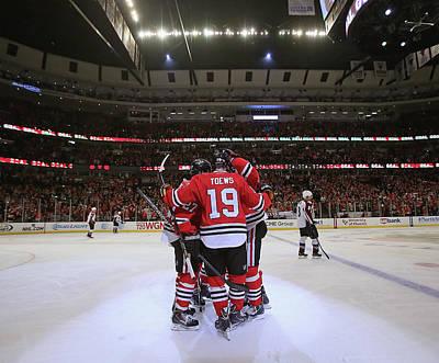 Photograph - Colorado Avalanche V Chicago Blackhawks by Jonathan Daniel
