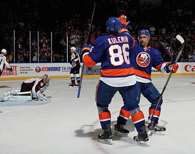 Photograph - Colorado Avalanche V New York Islanders by Bruce Bennett
