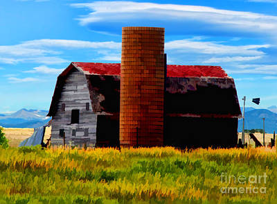 Digital Art - Colorado Barn by Steve Rogers