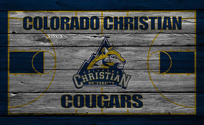 Colorado State University Photograph - Colorado Christian Cougars by Joe Hamilton