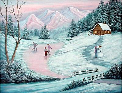 Painting - Colorado Christmas by Fran Brooks