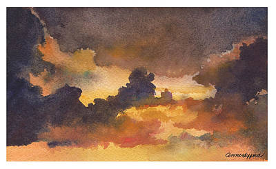 Colorado Clouds In Orange Sky Original
