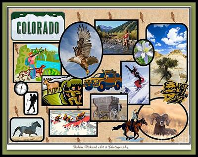 Digital Art - Colorado Collage by Bobbee Rickard