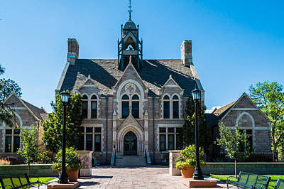 Colorado College Cutler Hall Art Print by Ray Sheley