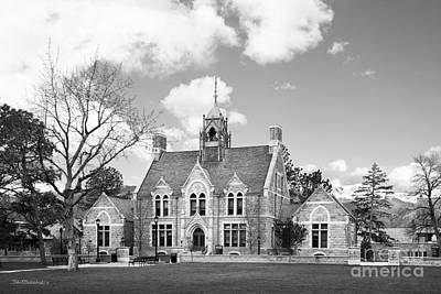 Colorado College Cutler Hall Side View Art Print by University Icons
