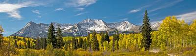 Photograph - Colorado Colorado Aspen Trees And Snow Capped Mountains by Willie Harper