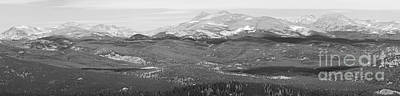 Bo Insogna Photograph - Colorado Continental Divide Panorama Hdr Bw by James BO  Insogna