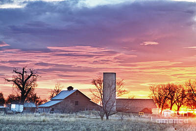 Photograph - Colorado Country Morning Sunrise by James BO  Insogna