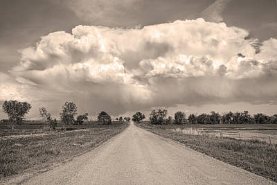 Photograph - Colorado Country Road Stormin Sepia  Skies by James BO Insogna