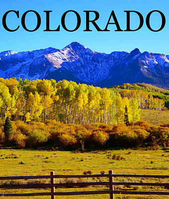 Photograph - Colorado Fa Poster Work by David Lee Thompson