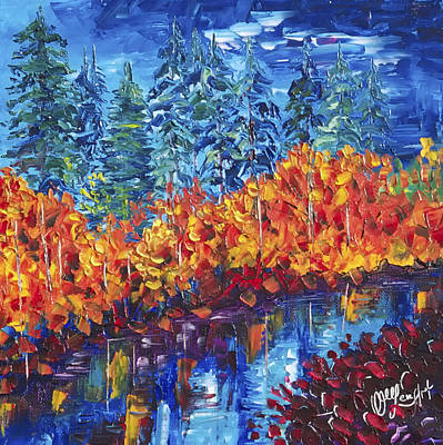 Painting - Colorado Fall by OLena Art Brand