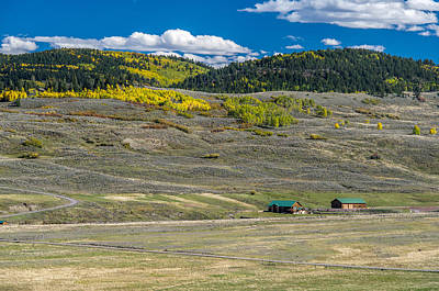 Photograph - Colorado Farm House With A View by Willie Harper