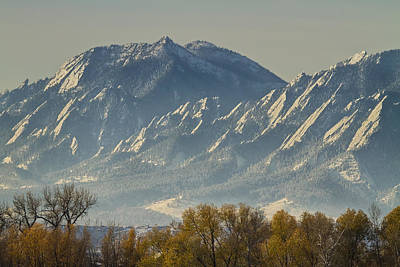 Photograph - Colorado Flatiron Autumn View by James BO Insogna