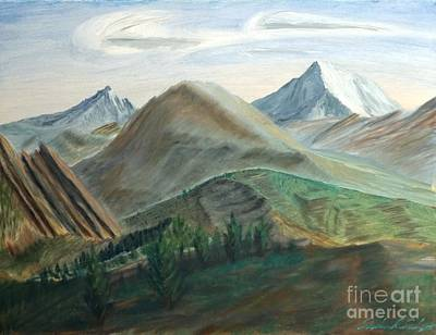 Painting - Colorado Flatirons And Hogback by Stephen Schaps