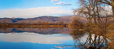 Colorado Front Range Coot Lake Reflections Panorama  Art Print