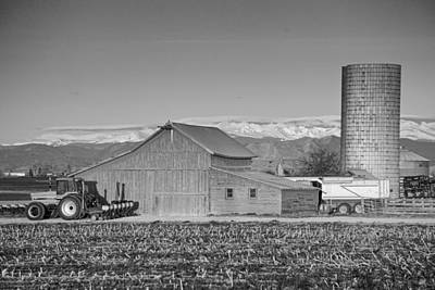 Tractors Photograph - Colorado Front Range Farming Bw by James BO  Insogna