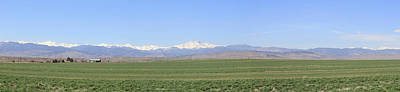 Photograph - Colorado Front Range Panorama by Trent Mallett