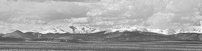 Photograph - Colorado Front Range Rocky Mountain Agriculture Panorama Bw by James BO  Insogna