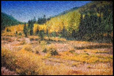 Colorado Golden Autumn Art Print by Teri Brown