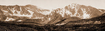 Torreys Peak Drawing - Colorado, Grays And Torreys Peaks, Jackson, William Henry by Litz Collection