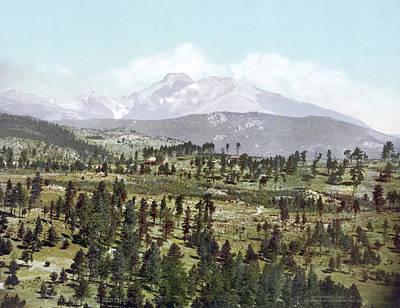 Photograph - Colorado Longs Peak, C1901 by Granger