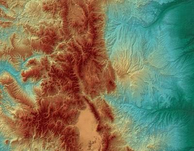 Rocky Digital Art - Colorado Map Art by Paul Hein