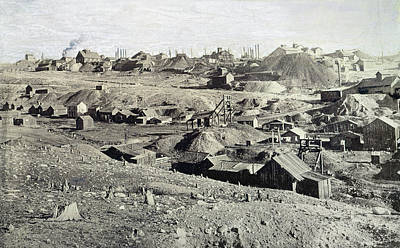 Photograph - Colorado Mining Camp, C1880 by Granger