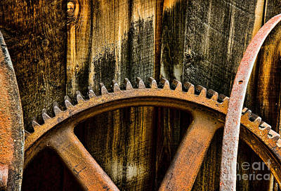 Colorado Mining Gear Art Print