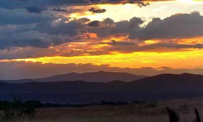 Jerry Sodorff Royalty-Free and Rights-Managed Images - Colorado Monsoon Sunset 16213 by Jerry Sodorff