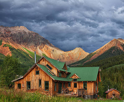 Colorado Mountain Home Art Print