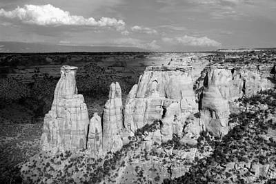Photograph - Colorado National Monument 9 Bw by Mary Bedy